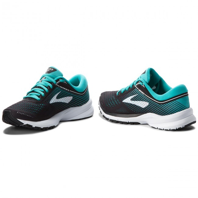 9b526411ac0 Buty BROOKS - Launch 5 120266 1B 003 Black Teal Green White - Indoor ...