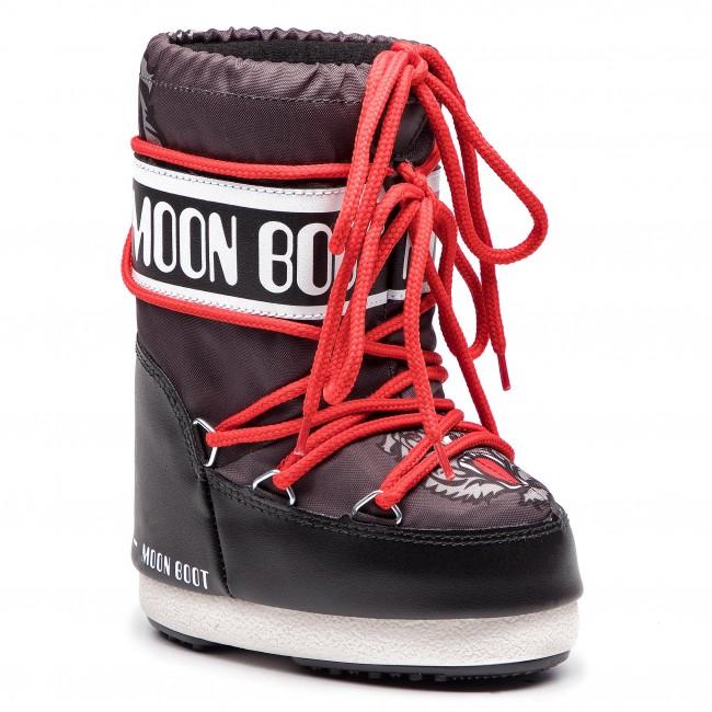 a061b2b3220b Snow Boots MOON BOOT - Jr Boy Tiger 34001300001 Black Anthracite ...