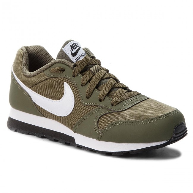 67264e864c3a6 Shoes NIKE - Md Runner 2 (GS) 807316 201 Medium Olive White Black ...