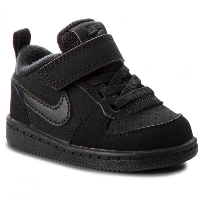 f3a14a29c1 Shoes NIKE - Court Borough Low (TDV) 870029 001 Black/Black - Velcro ...