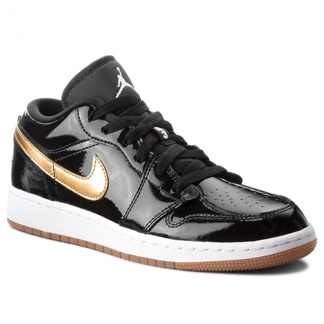 Shoes NIKE - Air Jordan 1 Low Gg 554723 032 Black Metallic Gold ... ec08d0d183