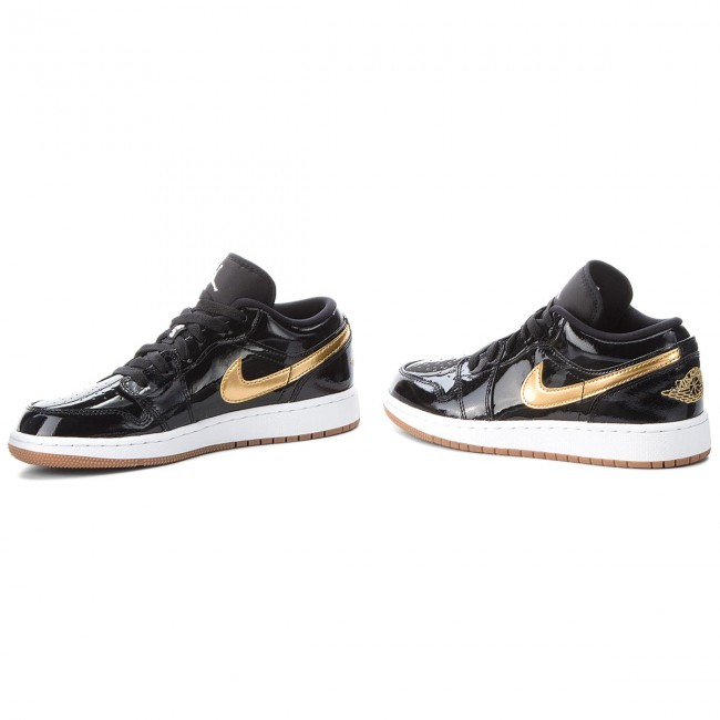 d042d7aea4c7 Shoes NIKE - Air Jordan 1 Low Gg 554723 032 Black Metallic Gold White