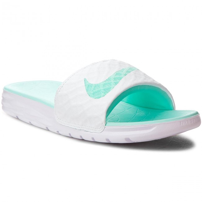 80fe1782a1fc ... coupon slides nike benassi solarsoft 705475 130 white artisan teal  783f3 681db
