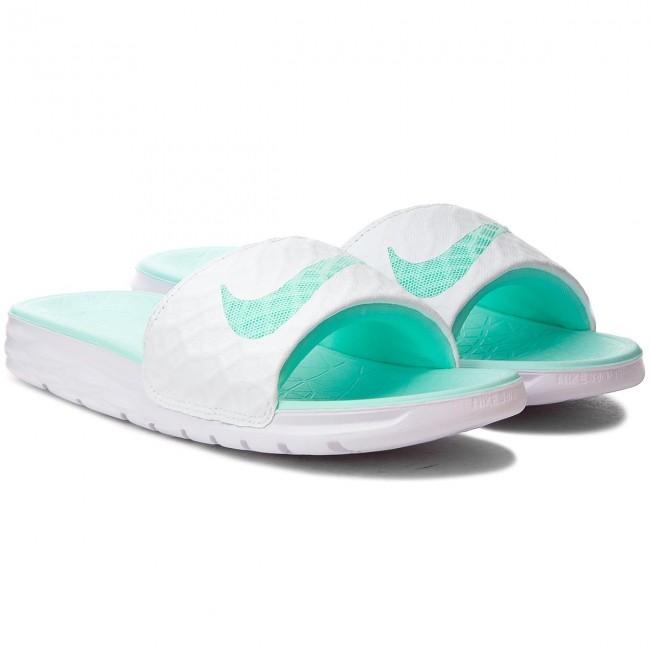 9edf9b1f58b4 Slides NIKE - Benassi Solarsoft 705475 130 White Artisan Teal - Casual  mules - Mules - Mules and sandals - Women s shoes - www.efootwear.eu