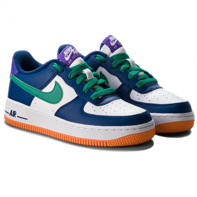 on sale c1a82 ad6f7 Shoes NIKE - Air Force 1 (GS) 596728 407 Gym BlueNeptune GreenWhite -  Sneakers - Low shoes - Womens shoes - www.efootwear.eu