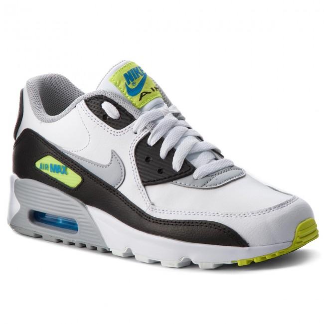newest a47e4 4fb66 Shoes NIKE. Air Max 90 Ltr (GS) 833412 113 White Wolf Grey Photo Blue