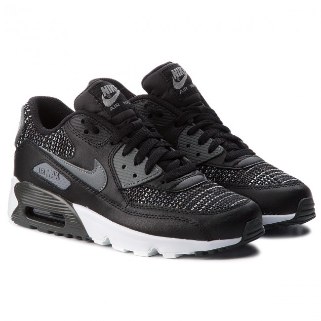 new style fd022 85fac Shoes NIKE - Air Max 90 Mesh Se (GS) AA0570 002 Black Cool Grey Anthracite  - Sneakers - Low shoes - Women s shoes - www.efootwear.eu