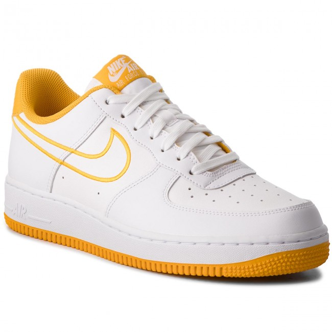 Shoes NIKE - Air Force 1  07 Lthr AJ7280 101 White Yellow Ochre ... e3b64edbc487