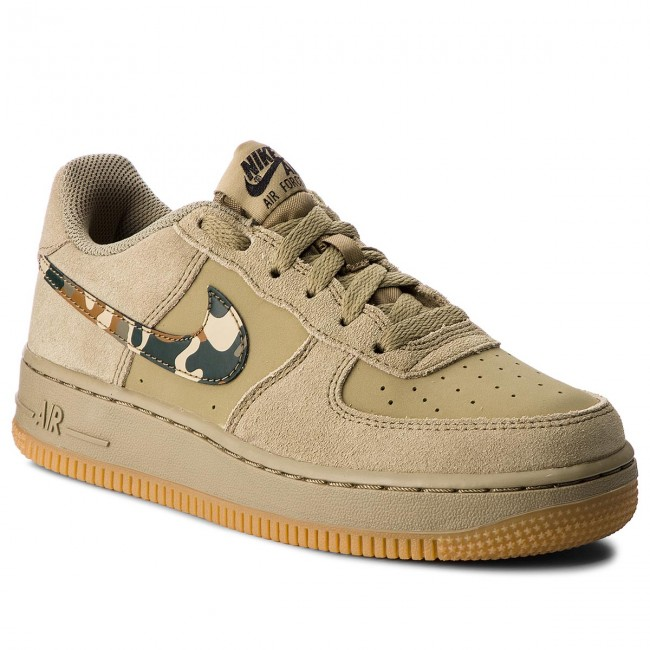 Shoes NIKE - Air Force 1 (GS) 596728 202 Neutral Olive Black ... e6ee66f19ca4
