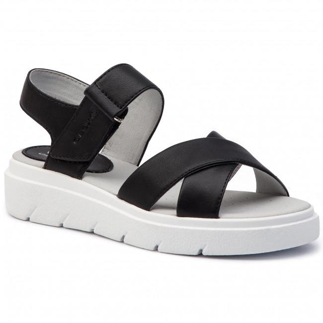 Sandals GEOX - D Tamase E D92DLE 000BC C9999 Black - Casual sandals ... 56e7f21e1bc
