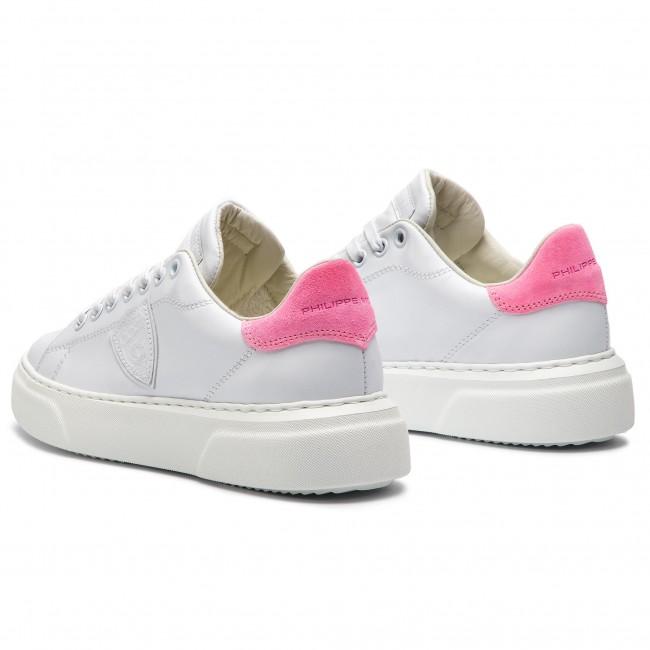 Sneakers PHILIPPE MODEL - Temple Femme BGLD VN01 Veau Neon Blanc Fucsia 3fe9cc79e9e7