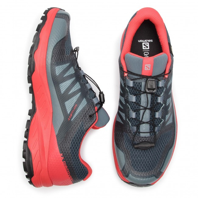 Shoes SALOMON Xa Discovery Gtx GORE TEX 406803 27 W0 Stormy WeatherHigh Risk RedBlack