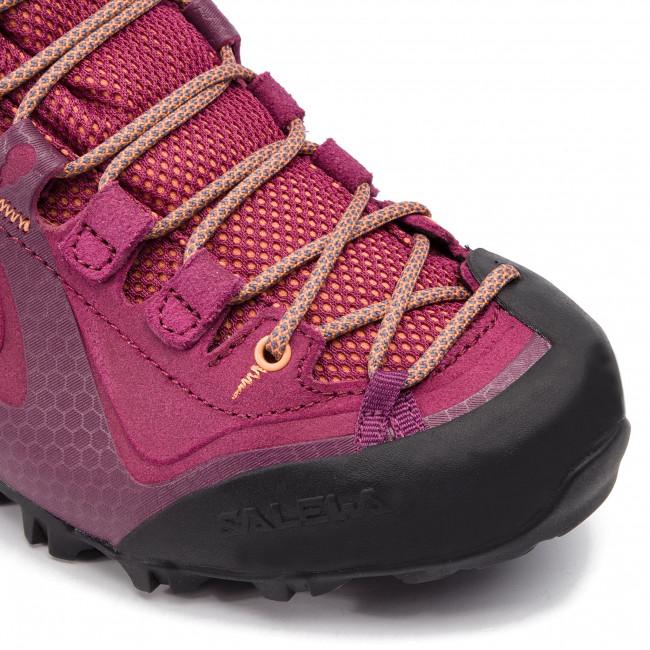 e6f3a2d2f4a Trekker Boots SALEWA - Alpenviolet Mid Gtx GORE-TEX 61337-6895 Red  Plum/Orange Popsicle