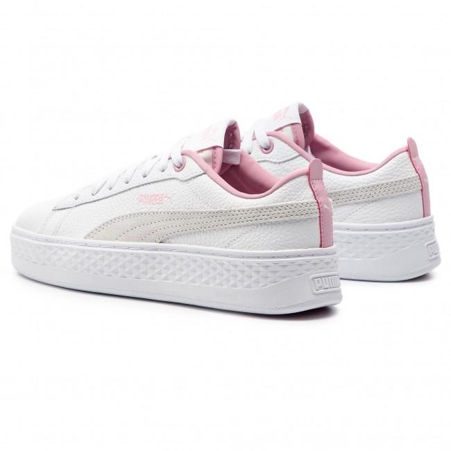 bd5d42f79474be Sneakers PUMA - Smash Platform L 366487 08 Puma White Pale Pink ...