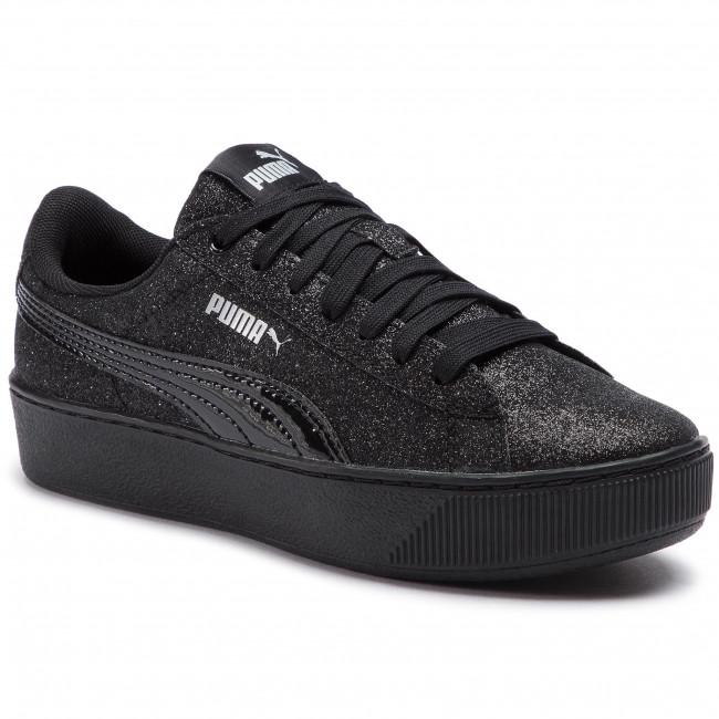 32c4c0a7d6d Sneakers PUMA - Vikky Platform Glitz Jr 366856 05 Puma Black Puma ...