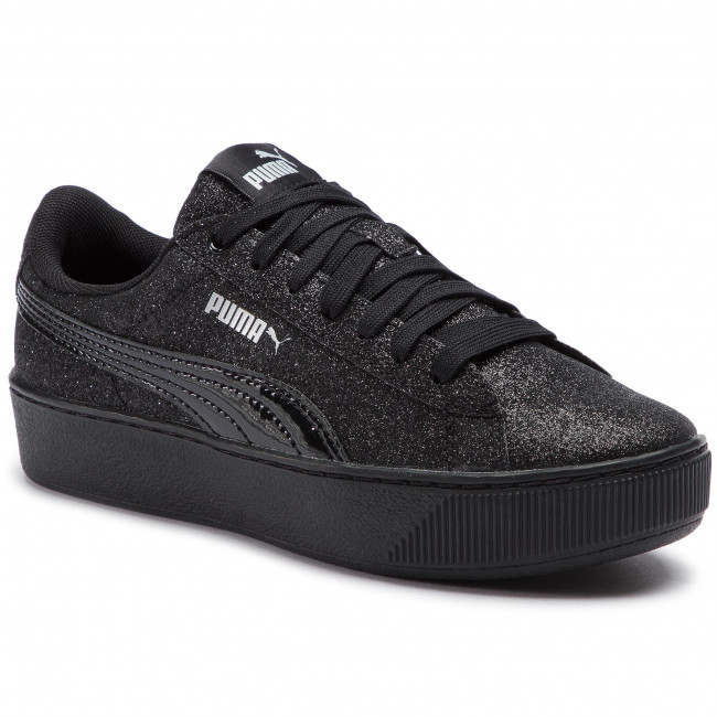 126506214ba590 Sneakers PUMA - Vikky Platform Glitz Jr 366856 05 Puma Black Puma Black