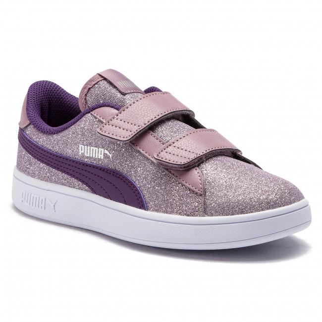 Sneakers PUMA - Smash v2 Glitz Glam V Ps 367378 06 Elderberry Indigo Silver 2884bdb66