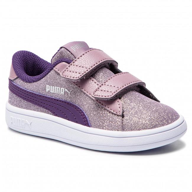 3df664d7341 Sneakers PUMA - Smash V2 Glitz Glam V Inf 367380 06 Elderberry Indigo Silver