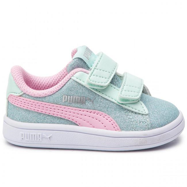 PUMA Smash v2 Glitz Glam Sneakers JR Girls Shoe Kids sold by