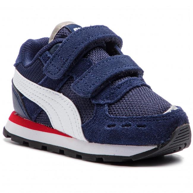 b896a70cb42 Sneakers PUMA - Vista V Inf 369541 02 Peacoat/Puma White - Velcro ...