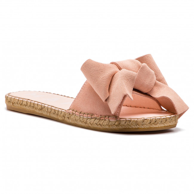 790094377cf Espadrilles MANEBI - Sandals With Bow W 1.4 J0 Pastel Rose Suede ...