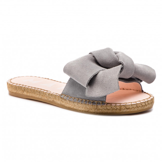 bf4bf9f8538 Espadrilles MANEBI - Sandals With Bow A C.1 J0 Grey Goat ...