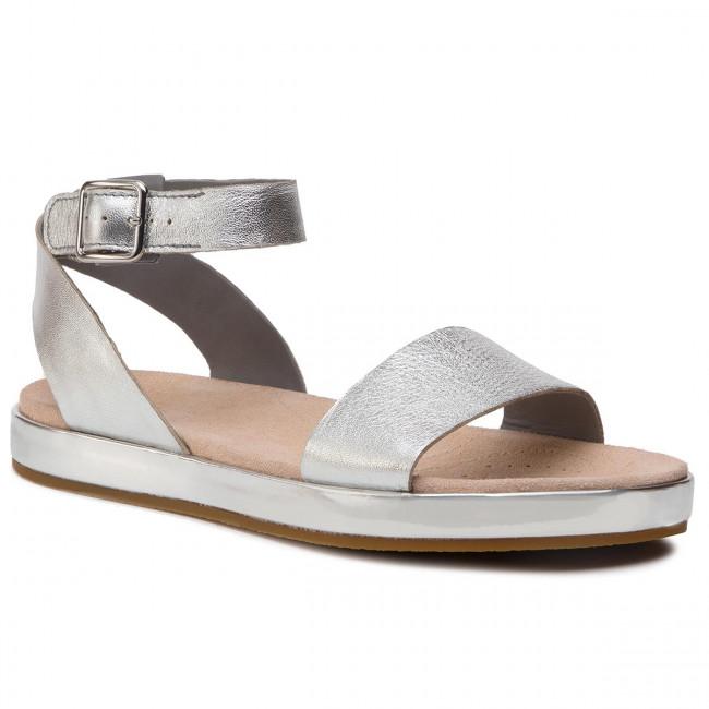eaf8cf56716 Sandals CLARKS - Botanic Ivy 26141348 Silver Leather - Casual ...