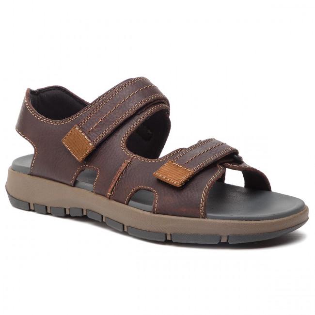 f2dead2d0b6d Sandals CLARKS - Brixby Shore 261315497 Dark Brown Leather - Sandals ...