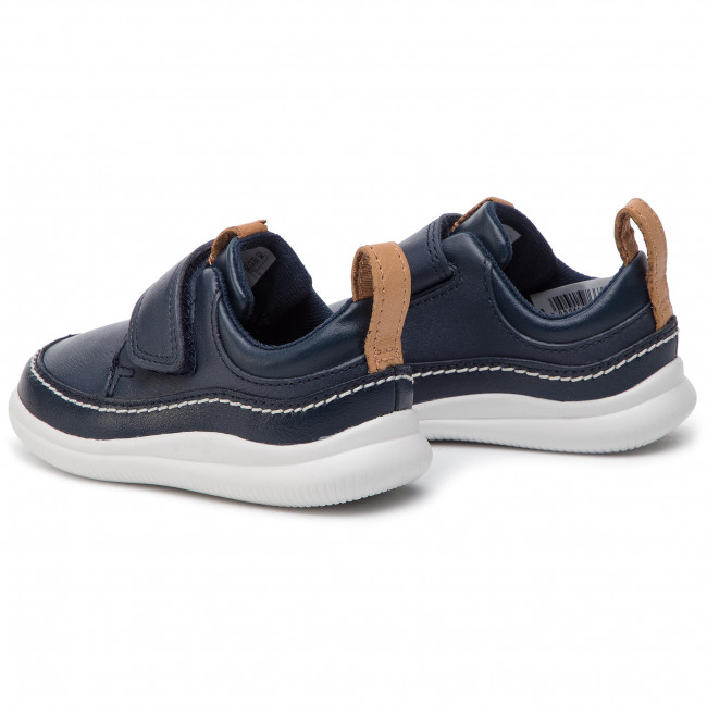 f5fee9c7a8a3e Shoes CLARKS - Cloud Ember T 261405046 Navy Leather - Velcro - Low ...