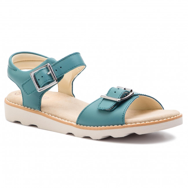 1ec050b30dae Sandals CLARKS - Crown Bloom K 261415356 Teal Leather - Sandals ...