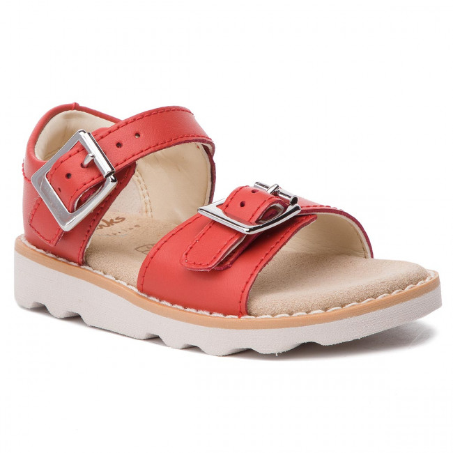 bfbdc406539 Sandals CLARKS - Crown Bloom T 261411276 Coral Leather - Sandals ...