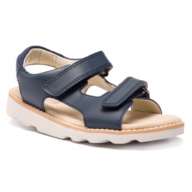 cef65e63a Sandals CLARKS - Crown Root K 261412326 Navy Leather