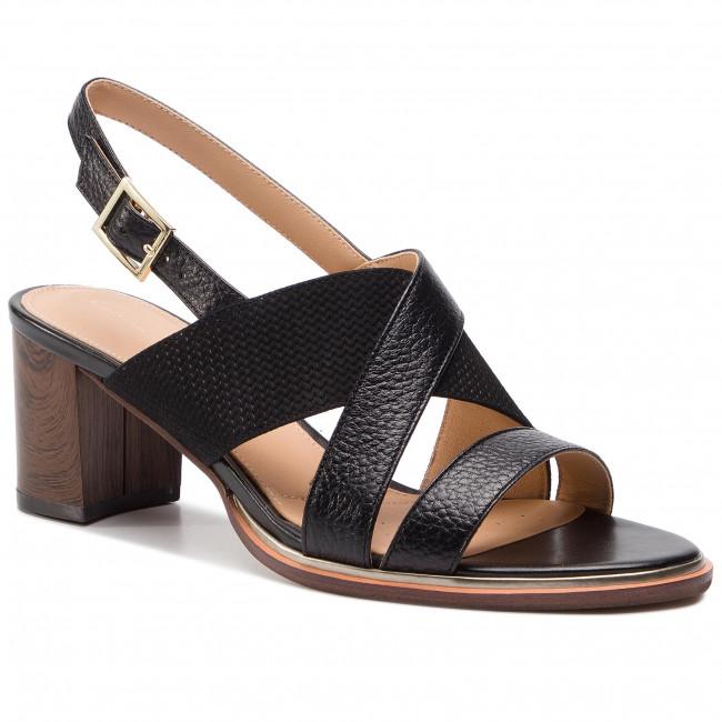 8d1dbee8b8c8 Sandals CLARKS - Ellis Tilda 261393064 Black Leather - Casual ...