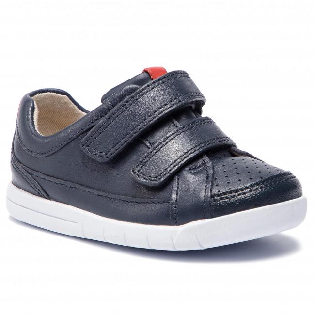 37f4ff54de66 Sneakers CLARKS - Emery Walk T 261420366 Navy Leather - Velcro - Low ...