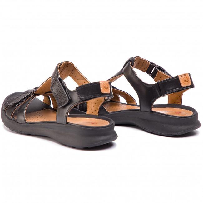 355c0da4c648 Sandals CLARKS - Un Adorn Vibe 261417204 Black Leather - Elegant ...
