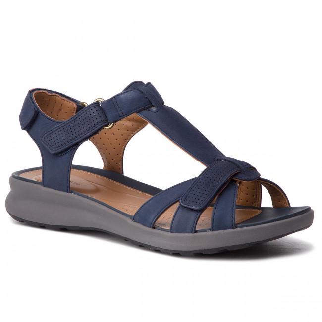 40536b42d72b Sandals CLARKS - Un Adorn Vibe 261417214 Navy Nubuck - Casual ...