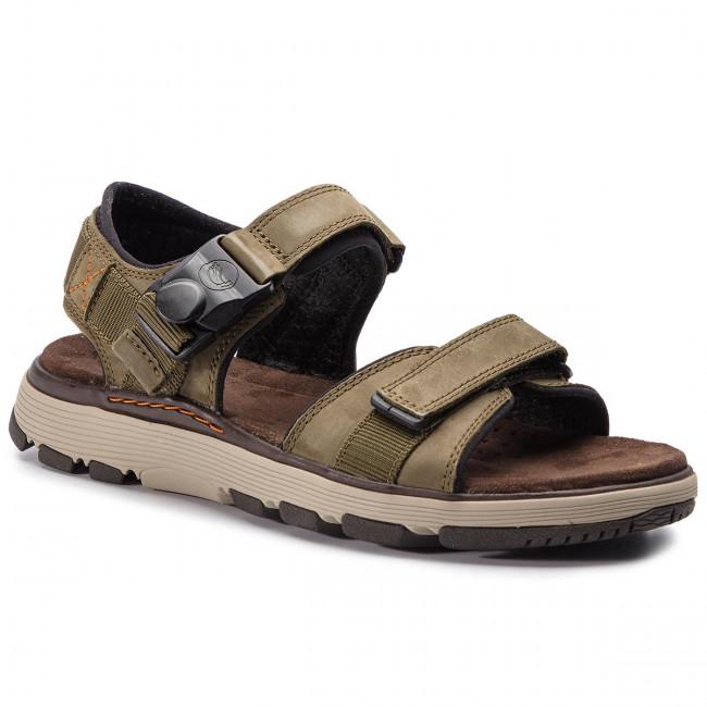 4908e97d929 Sandals CLARKS - Un Trek Part 261416047 Dark Olive Nubuck - Sandals ...