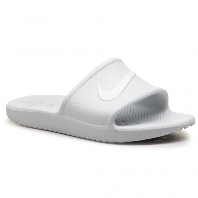 c681eb10a00de9 Slides NIKE - Kawa Shower 832655 010 Pure Platinum White - Casual ...