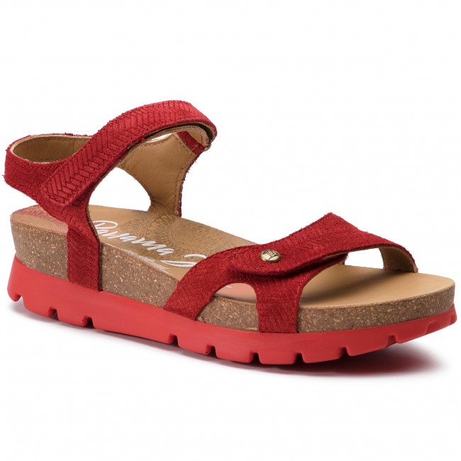 6ad46b48f21b02 Sandals PANAMA JACK - Sulia Menorca B1 Rojo Red - Wedges - Mules and ...