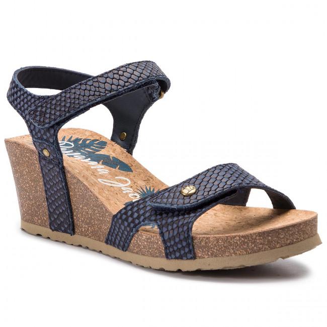f80a94ff9eb39d Sandals PANAMA JACK - Julia Snake B12 Napa Marino Navy - Wedges ...