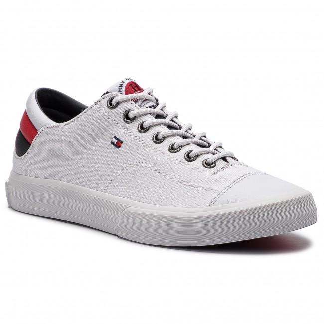 5afca3233a Plimsolls TOMMY HILFIGER - Long Lace Sneaker FM0FM01947 White 100 ...