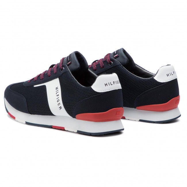 4cc8f9fc Sneakers TOMMY HILFIGER - Knitted Material Mix Runner FM0FM01956 Midnight  403