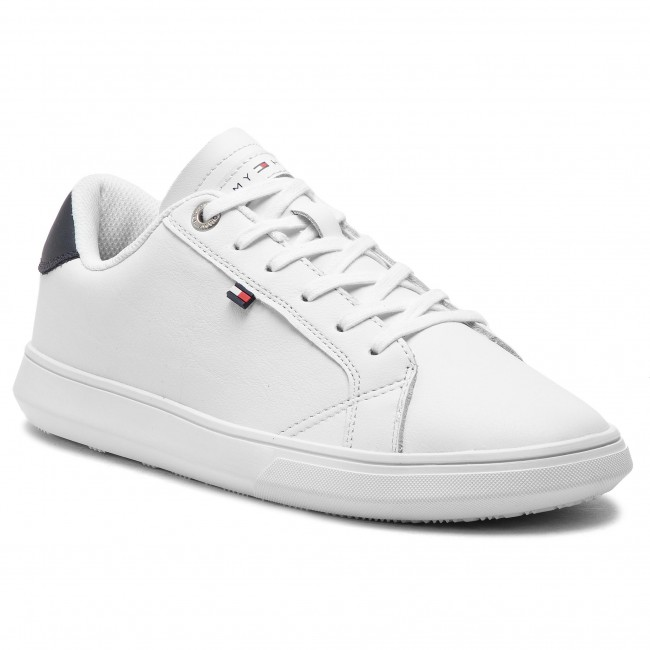 91c49720904d Sneakers TOMMY HILFIGER - Essential Leather Cupsole FM0FM01987 White ...