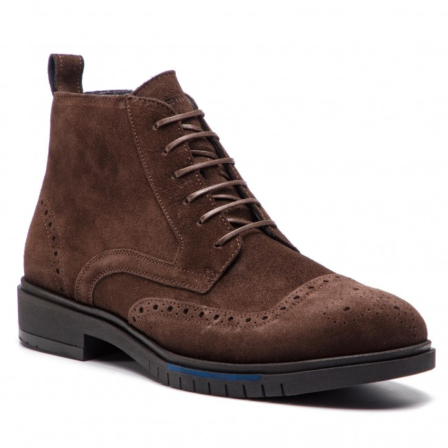 b2b27ba536c3a Boots TOMMY HILFIGER - Flexible Dressy Brogue Boot FM0FM01993 Coffee Bean  212