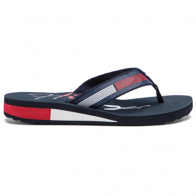 7e3329c1f Slides TOMMY HILFIGER - Corporate Flag Beach Sandal FW0FW03650 Rwb ...