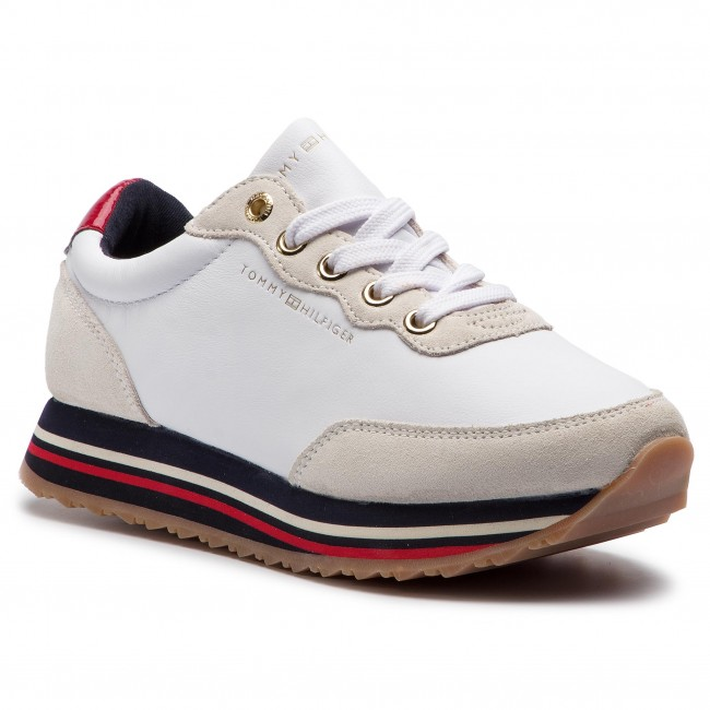 03ccdfa11 Sneakers TOMMY HILFIGER - Tommy Retro Runner FW0FW03690 White 100 ...