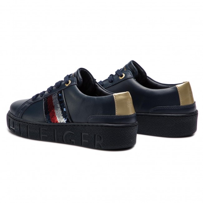 cf10d61bcbb Sneakers TOMMY HILFIGER - Tommy Sequins Fashion Sneaker FW0FW03704 Midnight  403