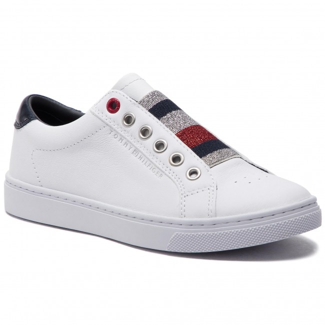 cfc13a93c6b27 Sneakers TOMMY HILFIGER. Tommy Elastic Essential Sneaker FW0FW03707 White  100