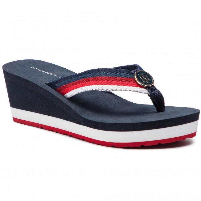 12aa18054bf5e Slides TOMMY HILFIGER - Ombre Effect Beach Sandal FW0FW03788 Rwb 020 ...