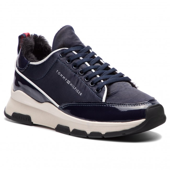 c8510abd6 Sneakers TOMMY HILFIGER - Cool Technical Satin Sneaker FW0FW03970 ...